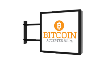 Cryptocurrencies For Payment - Sign that says bitcoin accepted here